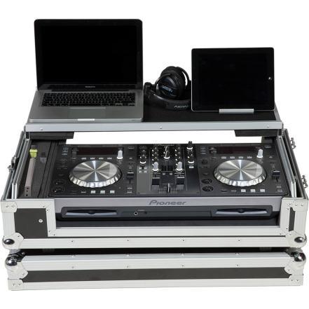 Flight Case Midi Controller Pioneer® XDJ-R1 Silver (Laptop Stand, Trolley & Wheels).