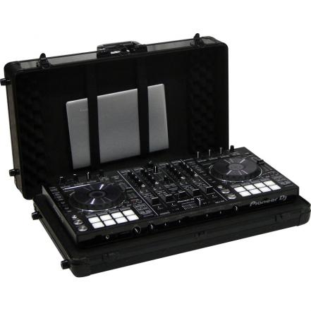 Flight Case Multi Format XL 690mm Pioneer® DDJ-SX3/ Denon DJ® MC7000 Negra (Trolley y Ruedas).
